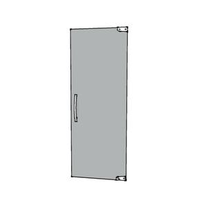 Porta Montada Pivotante Lisa de Vidro Incolor 8mm Ambos os Lados BR Baldex