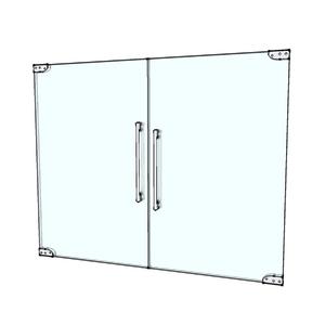 Porta Montada Pivotante Lisa de Vidro Incolor 8mm Ambos os Lados NF Baldex