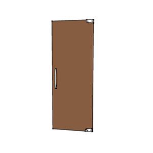 Porta Montada Pivotante Lisa de Vidro Marrom 8mm Ambos os Lados BR Baldex