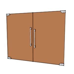 Porta Montada Pivotante Lisa de Vidro Marrom 8mm Ambos os Lados NF Baldex