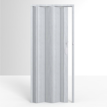 Porta Montada Sanfonada Lisa Cinza Marmorizado de PVC 2,10X0,85m Permatti