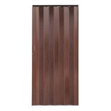 Porta Montada Sanfonado de PVC Castanho 2,10x0,84cm Hoggan
