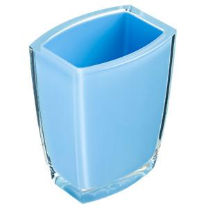 Porta Objeto de Banheiro Acrílico Retangular sem Tampa Fun Azul