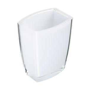 Porta Objeto de Banheiro Acrílico Quadrado sem Tampa Fun Branco