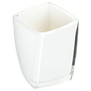 Porta Objeto de Banheiro Acrílico Quadrado sem Tampa Twist Branco