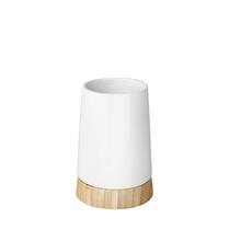 Porta Objeto de Banheiro Branco e Marrom em Cerâmica Reconnect Wenko