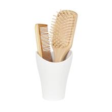 Porta Objeto de Banheiro Branco em Resina Plástica Curvino Sensea