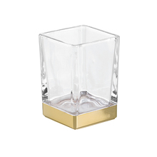Porta Objeto de Banheiro Casilla Dourado Vidro e Plástico Interdesign