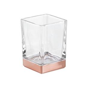 Porta Objeto de Banheiro Cassila Rose Vidro e Plástico Interdesign