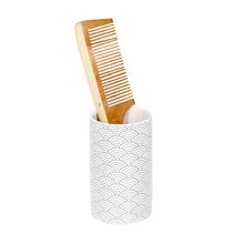 Porta Objeto de Banheiro Cerâmica Redondo Branco Okina Sensea