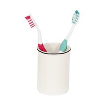 Porta Objeto de Banheiro Cerâmica Redondo Branco Outline Sensea