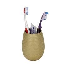 Porta Objeto de Banheiro Cerâmica Redondo Dourado Iris Sensea