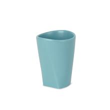 Porta Objeto de Banheiro Cerâmico Redondo Ava Blue Sensea