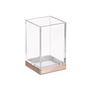 Porta Objeto de Banheiro Clarity Rose Vidro e Plástico Interdesign