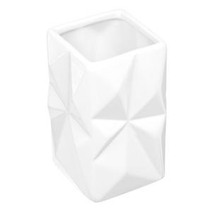 Porta Objeto de Banheiro Louça Pia Quadrado sem Tampa Diamond Branco