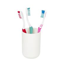 Porta Objeto de Banheiro Plástico Redondo Branco Easy Sensea