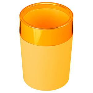 Porta Objeto de Banheiro Plástico Redondo sem Tampa Color Amarelo
