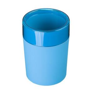 Porta Objeto de Banheiro Plástico Redondo sem Tampa Color Azul