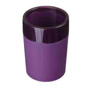 Porta Objeto de Banheiro Plástico Redondo sem Tampa Color Roxo
