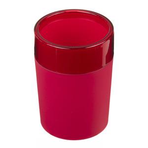 Porta Objeto de Banheiro Plástico Redondo sem Tampa Color Vermelho