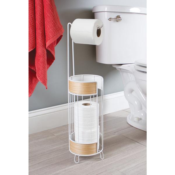 Porta papel higi nico madeira e metal simples essential for Portarrollos papel higienico leroy merlin