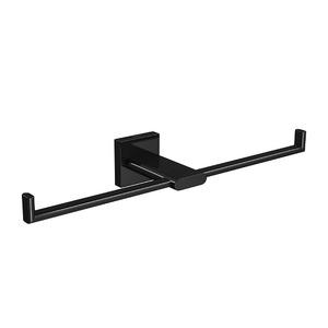 Porta Papel Higiênico Metal Duplas Polo Black Deca
