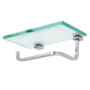 Porta papel higi nico metal e vidro squadra rack system for Portarrollos papel higienico leroy merlin