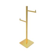 Porta Papel Higiênico Metal Simples Gold Quartzo Fani
