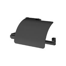 Porta Papel Higiênico Metal Simples Quartzo Black Fani
