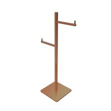 Porta Papel Higiênico Metal Simples Rose Gold Quartzo Fani