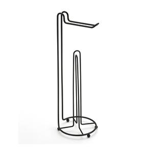 Porta Papel Higiênico Simples com Suporte 3 rolos Black Arthi