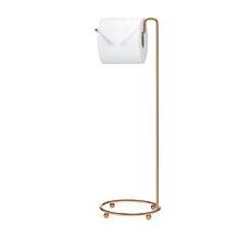 Porta Papel Higiênico de Chão Metal Simples Rose Gold Arthi