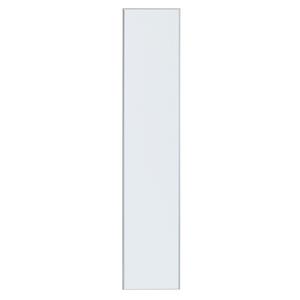 Porta para Cozinha Lille Alumínio e Vidro Branco 200x40cm F40/201