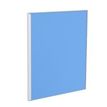 Porta para Cozinha Lille Alumínio e Vidro Light Azul F50/71