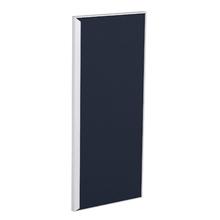 Porta para Cozinha Lille Alumínio e Vidro Preto Azul F30/70