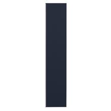 Porta para Cozinha Lille Alumínio e Vidro Preto Azul F40/201