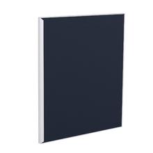 Porta para Cozinha Lille Alumínio e Vidro Preto Azul F50/71
