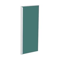 Porta para Cozinha Lille Alumínio e Vidro Preto Verde F30/70