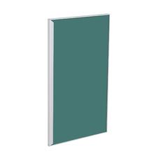 Porta para Cozinha Lille Alumínio e Vidro Preto Verde F40/71