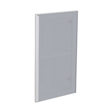 Porta para Cozinha Lille Alumínio e Vidro Silver Grey F40/71