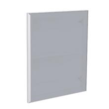 Porta para Cozinha Lille Alumínio e Vidro Silver Grey F50/70