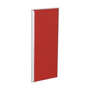Porta para Cozinha Lille Alumínio e Vidro Vermelho F30/71