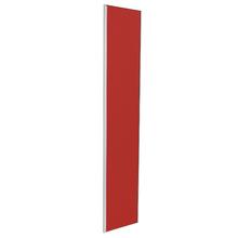Porta para Cozinha Lille Alumínio e Vidro Vermelho F40/201