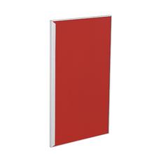 Porta para Cozinha Lille Alumínio e Vidro Vermelho F40/71