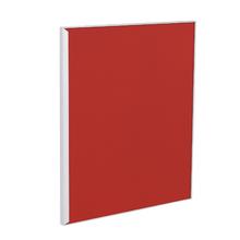 Porta para Cozinha Lille Alumínio e Vidro Vermelho F50/71
