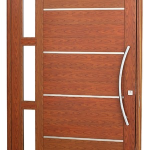 Porta pivotante Aluminio 243,5 x 146 x 12 cm Lambris horizontais com frisos e vidros lado Direito Aluminium Sasazaki