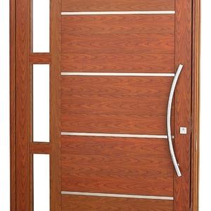Porta pivotante Aluminio 243,5 x 146 x 12 cm Lambris horizontais com frisos e vidros lado Esquerdo Aluminium Sasazaki