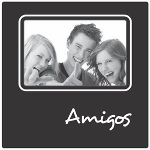 Porta Retrato Amigos Preto 10x15cm