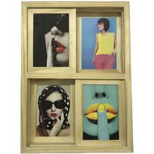 Porta Retrato Artesanal Natural Multifoto 10x15cm