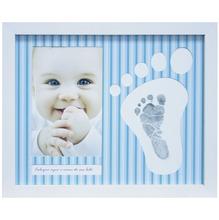 Porta Retrato Baby Pézinho Azul 10x15cm